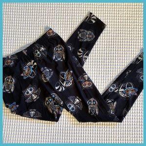 Pants - Plus Size Black Multicolored Owl Leggings GUC
